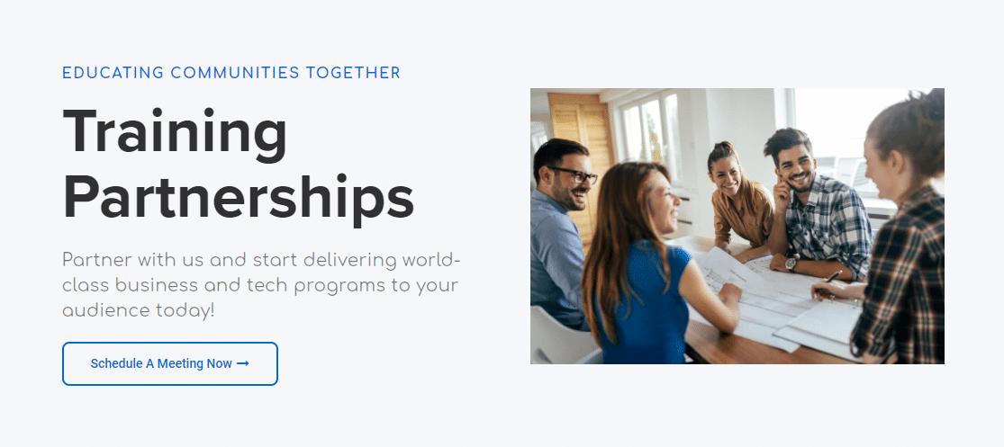 Training Partnerships - Booking a meeting