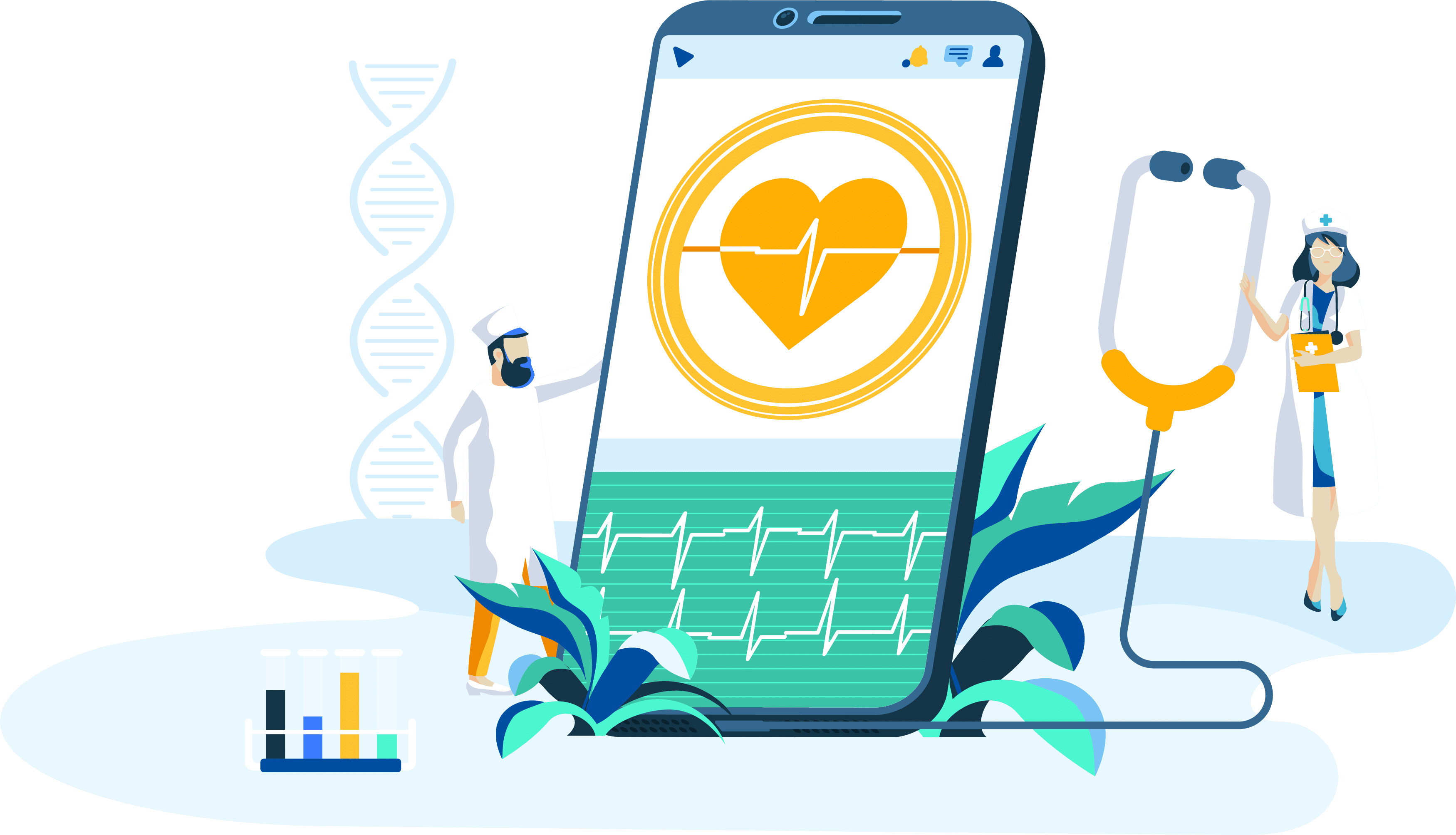 Blockchain in Healthcare Illustration - IIB Council Blockchain Blog