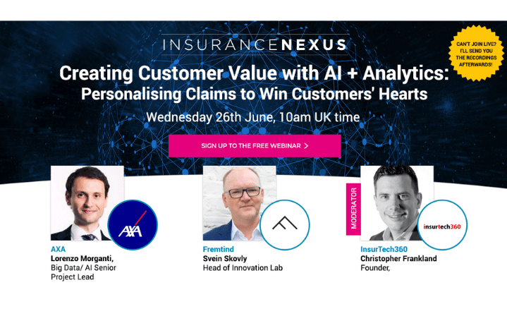 Live Webinar: Creating Customer Value with AI + Analytics: Personalising Claims to Win Customers' Hearts